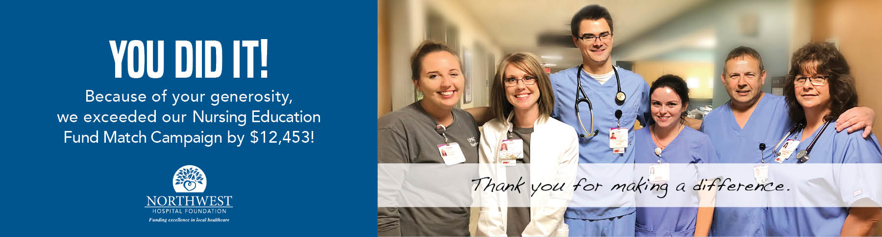 2018 Nursing Education Fund Match Campaign Success!
